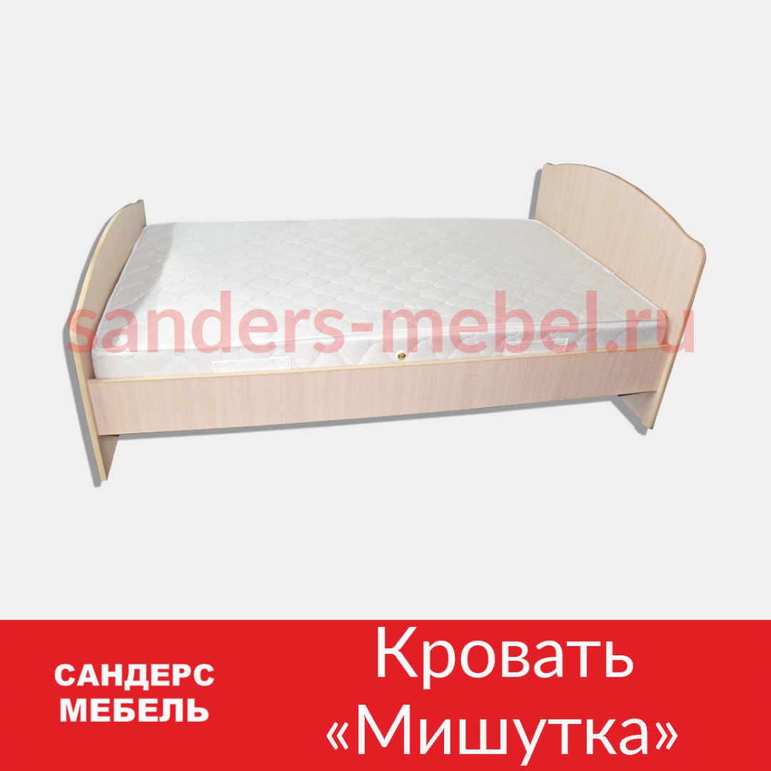 Кровать «Мишутка» с фрезерными спинками