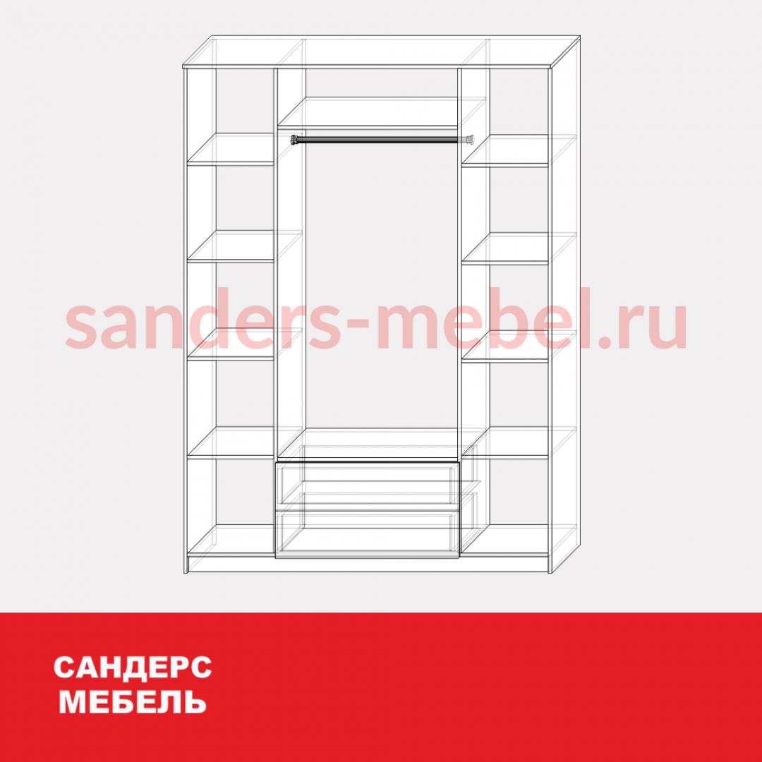 Шкаф «Анна» фасады ЛДСП